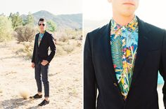 tropical button up and suit