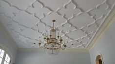 NJ project with custom plaster ceiling.