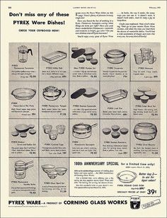 Pyrex Ad, 1951 ~ Photo by...alsis35.
