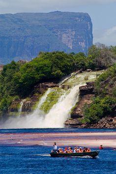 Salto el Hacha Waterfall, Canaima National Park, Bolivar, Venezuela
