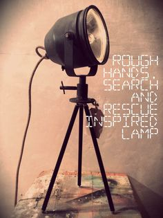 Search and rescue inspired lamp by Rough door RoughHandsTheHague