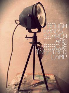 Staande lamp op statief tafel lamp tafellamp door RoughHandsTheHague