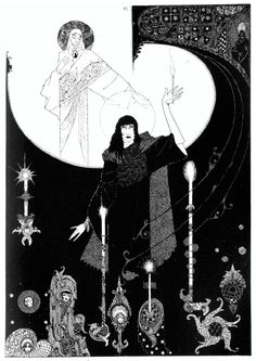 'In the brightness the old grandmother stood' Harry Clarke's Illustration from Han's Andersen's The Little Match Girl. #fairytales #ChristmasStories #xmas