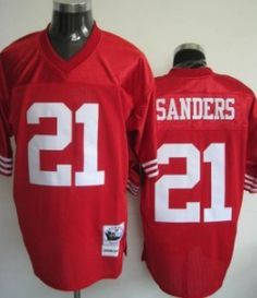 ... Black Jersey Sports Fan San Francisco 49ers 21 Sanders Red Throwback  Jersey Nike Deion ... e57e04487
