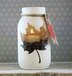 herfststijl kaarsen