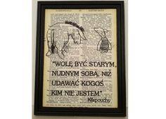 KŁAPOUCHY Plakat KUBUŚ PUCHATEK cytat vintage