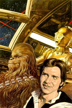 Han, Chewy and Threepio