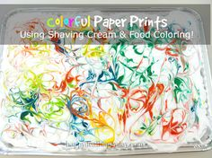 Are you ready to learn about a cool craft idea you can do using shaving cream and food coloring? I will show you how to make a colorful print on blank paper with these materials! We had tons of fun at our house last night doing this.  Materialsyou need: *2 cookie sheets *2 spatulas […]