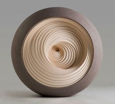 *Matthew Chambers's ceramic sculptures pay homage to mathematics, optical illusions, their abstract beauty, rhythm, hang our eyes.