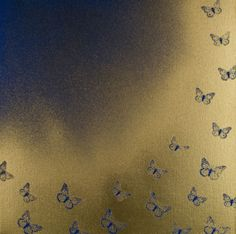 L J Durdle - Swooping Blue Butterflies