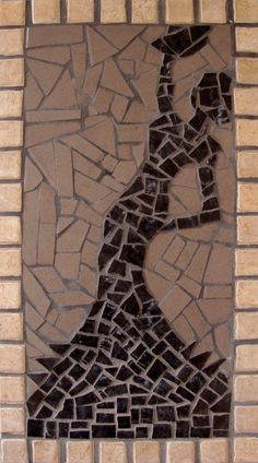 Mosaic Flamenco Dancer Wall Hanging in Black by ReTainReMakeReNew, £50.00