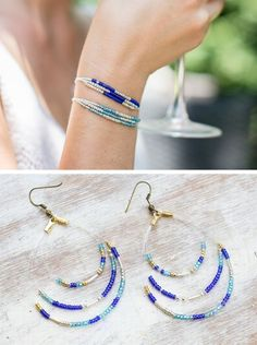 DIY Multi-strand bracelets and matching earrings, simple and fast to make.  *Earring tutorial here:  http://www.thesweetestoccasion.com/2013/04/diy-seed-bead-earrings/   . . . .   ღTrish W ~ http://www.pinterest.com/trishw/  . . . .  #handmade #jewelry #beading