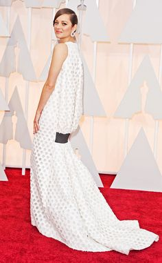 """Marion Cotillard from Worst Dressed Stars at the 2015 Oscars  """"What's that thing under her bum?""""—What we're all thinking."""
