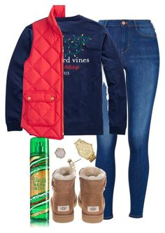 """""""cute or not so much?"""" by elizabethannee ❤ liked on Polyvore featuring UGG Australia, J.Crew, Kendra Scott, Michael Kors, women's clothing, women's fashion, women, female, woman and misses"""