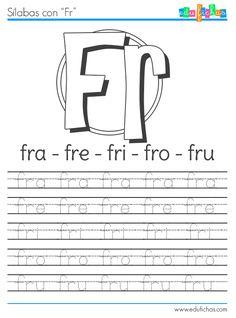 Ficha para aprender la FR http://www.edufichas.com/actividades/lectoescritura/silabas/silabas-con-f-fl-y-fr/ #kids #worksheets #preschool #letras #silabas