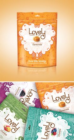Lovely Candy Company via Valk Chuah Dieline Candy Packaging, Gift Box Packaging, Chocolate Packaging, Food Packaging Design, Pretty Packaging, Packaging Design Inspiration, Biscuits Packaging, Candy Companies, Chocolate Brands