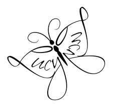Love this style of butterfly for a small wrist/ hand tattoo (minus the name)!