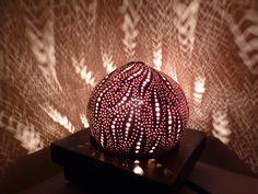 Rêve d'Haeckel 2, lampe d'ambiance aquatique en noix de coco sculptée