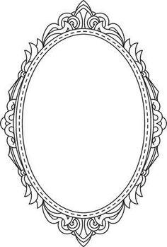 Antique Frames, Vintage Frames, Vintage Mirror Tattoo, Craft Patterns, Vintage Patterns, Picture Frame Tattoos, Mirror Tattoos, Framed Tattoo, Crown Art