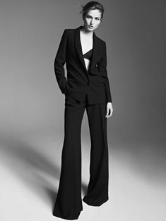 First Look: Andreea Diaconu for Adolfo Dominguez's Fall 2013 Campaign Tailored Fashion, Suit Fashion, Mademoiselle Mode, Top Fashion Magazines, Mode Costume, Style Masculin, Fashion Photography Poses, Campaign Fashion, Model Test