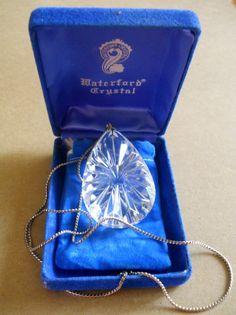 PendantNecklace Waterford Crystal Vintage 24 by LakeBreezes, $42.00