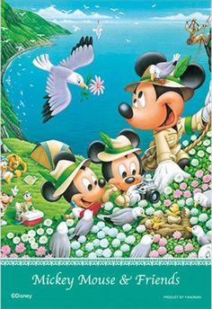 ★3割引!!★プリズムアート70ピースジグソーパズル:ディズニー 海の見える丘で - 組絵門(くみえもん)