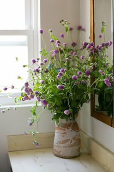 Rooms In Bloom: 14 Fabulous Floral Arrangements from Our House Tours - Pflanzideen My Flower, Fresh Flowers, Beautiful Flowers, Purple Flowers, Wild Flowers, Cactus Flower, Exotic Flowers, Flower Ideas, Yellow Roses