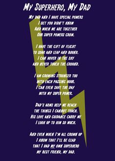 I caught this moment the other day which inspired me to write this My Superhero, My Dad Poem and Printable. Dad Poems, Fathers Day Poems, Fathers Day Crafts, Kid Crafts, My Superhero, Superhero Ideas, Amazing Quotes, Great Quotes, Daddy Day