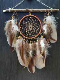 Dreamcatcher dream catcher Feather decor Indian Style talisman gift Wall hanging boho Native American dreamcatcher by Roadofthedream on Etsy Native American Bedroom, Native American Decor, Dream Catcher Native American, Native American Fashion, Dreamcatcher Wallpaper, Boho Dreamcatcher, Dreamcatchers, Dream Catcher Craft, Dream Catcher Tattoo