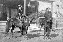 Belle Starr - Ft Smith AK, 1886 - In 1880 she married a Cherokee man named Sam Starr and settled with the Starr family in the Indian Territory.