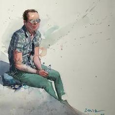 Eudes Correia: 2 тыс изображений найдено в Яндекс.Картинках Watercolor Illustration, Watercolor Paintings, Portrait Sketches, Colour, Artist, Projects, Image, Fictional Characters, Watercolor