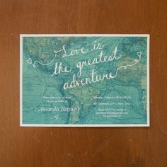 Love is the greatest adventure digital bridal by moonscapehandmade