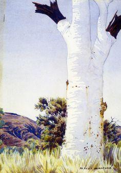 Albert Namatjira (Australian artist), Ghost gum, c 1945-53 |