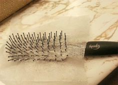 Here's the secret to your next good hair day: Poke the bristles of your hairbrush through a dryer sheet, then comb through your locks. The same technology that keeps your towels soft will fight frizz and smooth your strands.