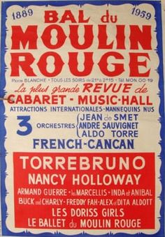While attending a show at The Moulin Rouge, Elvis accepted the star of the show's invitation to please meet him backstage afterwards. Nancy Holloway is an American singer who was very popular in France around the time Elvis was there (and in the 60′s as well).   According to Mrs. Holloway's the meeting took place on June 14th. But Elvis was still in Munich on this date (en route to Paris) and the actual meeting was on the 17th.
