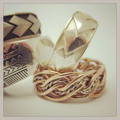 Spear and plait designs . Custom made jewellery by seventysixdesign