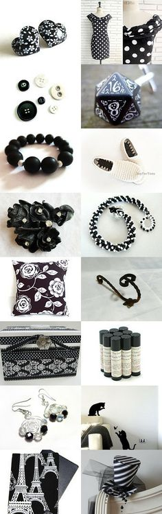 White with Black by Carla on Etsy--Pinned with TreasuryPin.com