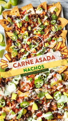 Carne Asada, Mexican Dishes, Mexican Food Recipes, Beef Recipes, Nachos, Dinners, Meals, Dips, Cinco De Mayo