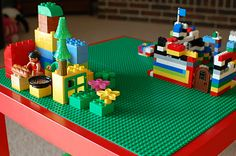 DIY Lego Table from an IKEA Lack end table. Want to do this for my classroom!