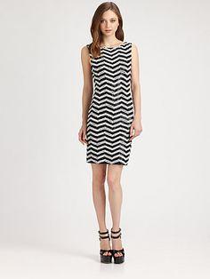 Alice + Olivia - Sumie Sequin-Stripe Dress