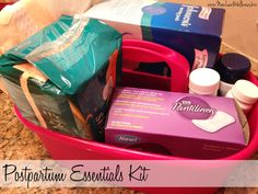 Postpartum Essentials Kit. Everything you need after giving birth that no one tells you about!