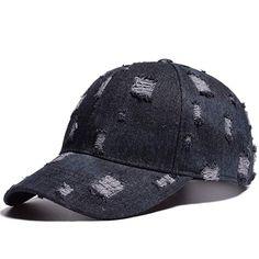 49c3b262ba5 Ponycap Messy High Bun Distressed Adjustable Denim Plain Baseball Cap Low  Profile Dad Hat