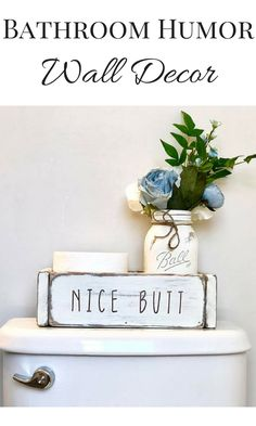 Potty Talk Bathroom Organizer- Nice Butt (bathroom humor, bathroom decor, funny bathroom sign) #affiliate #bathroom #organizer #decor #bathroomdecor