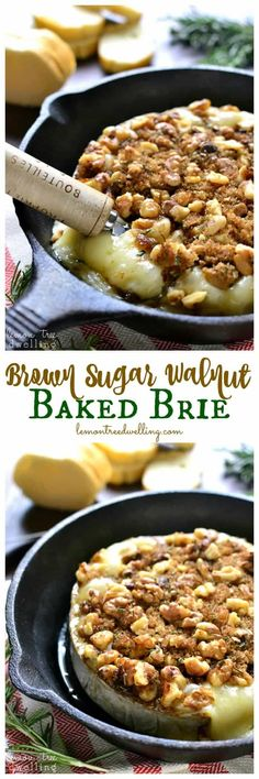 This Brown Sugar Walnut Baked Brie is the perfect blend of savory and sweet and makes a delicious holiday appetizer! Serve it with fresh bread, apple slices, or crackers for a quick and easy snack that's sure to please all your holiday guests!