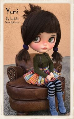 Reserved for SHE....YUMI Ooak Custom Blythe Artist Doll by ByAlsw