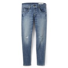 Rag Bone Standard Issue Standard Issue Fit 1 Jeans ($230) ❤ liked on Polyvore featuring jeans, pants, bottoms, trousers, rag & bone, blue jeans and rag bone jeans