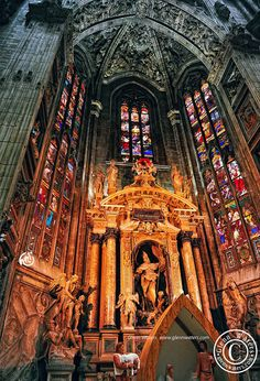 Milano Cathedral.  (Duomo di Milano), province of Milan, Lombardy region Italy