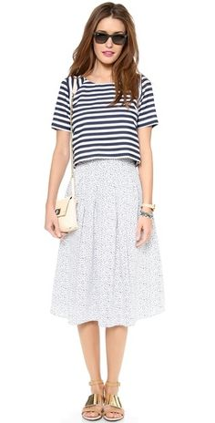 JOA Striped Short Sleeve Top |SHOPBOP | Save up to 30% Use Code BIGEVENT14