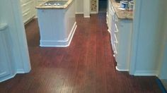 Laminate flooring in the kitchen is all done.