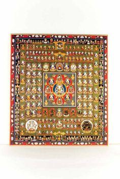 Papel Rakuten budista coloreado 胎 蔵 mundo Mandala: Buddha budista tibetana arte Tenjikudo al por mayor